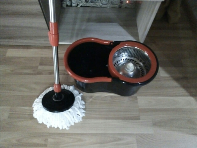 SOKOLTEC Suspension Mop Whee Bucket Hand Free Wringing Stainless Steel Mop Self Wet Spin Cleaning System Dry Cleaning Microfiber-in Mops from Home & Garden on AliExpress