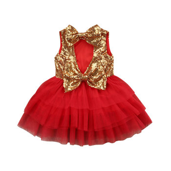 Princess Toddler Kid Baby Girls Dress Sequins Bow Tulle Tutu Party Wedding Birthday Dresses For Girl Christmas Children Costumes high quality baby girl dress vest tutu party dress children princess bow flower girls dresses for party and wedding page 7