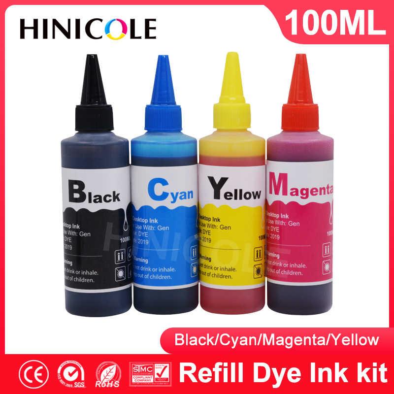 Hinicole 4 renkli şişe mürekkep dolum kiti Canon PG445XL PG 445 PG-445 PG445 CL 446 PG 440 PG440 PG-440 CL 441 XL yazıcı mürekkep