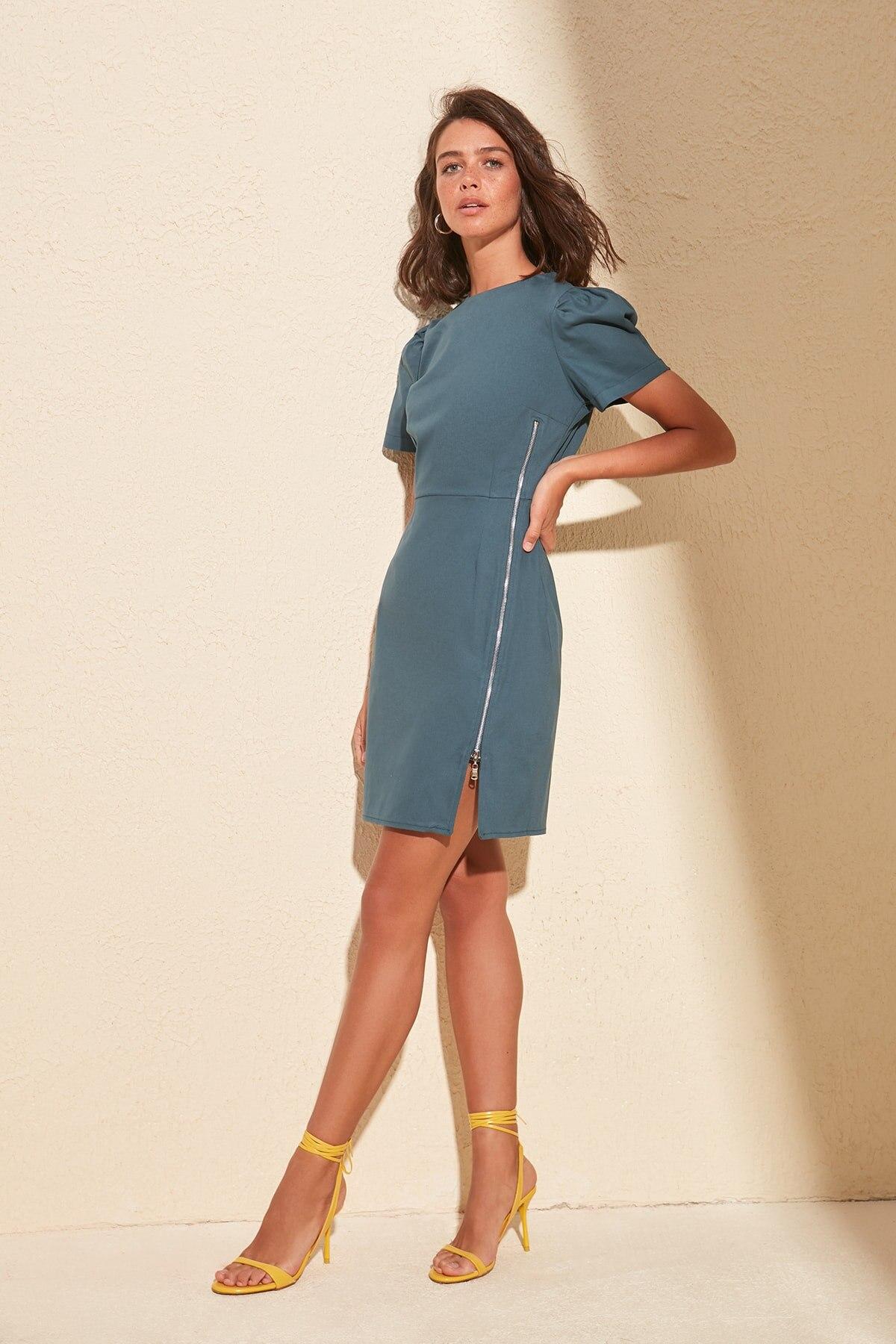 Trendyol Zipper Detail Dress TWOSS20EL0522