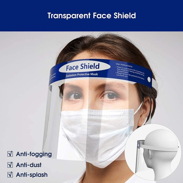 All-Purpose Safety Face Shield Clear Full Face Mask Reusable Breathable Anti-Saliva Protective Hat Windproof Dustproof  Shield 4