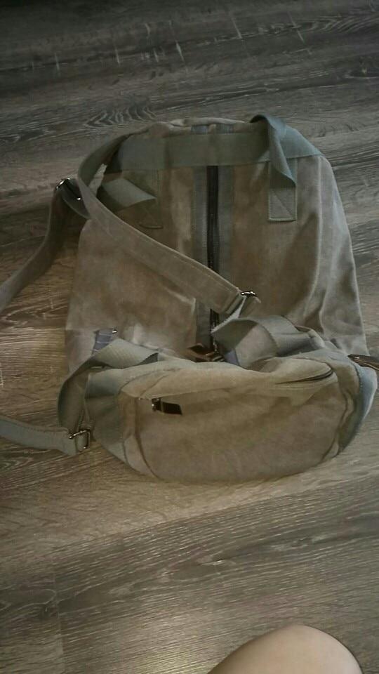 New Large Capacity Travel Bag Man Mountaineering Backpack Male Luggage Waterproof Canvas Bucket Shoulder Bags Men Backpacks photo review