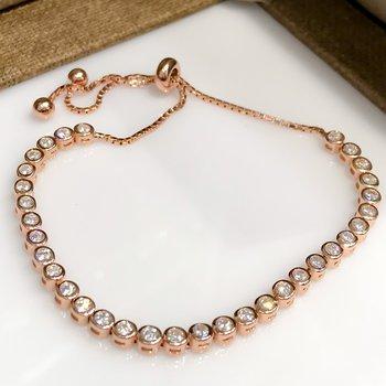 Tamtur Watercourse Rosegold Silver Lady Bracelet