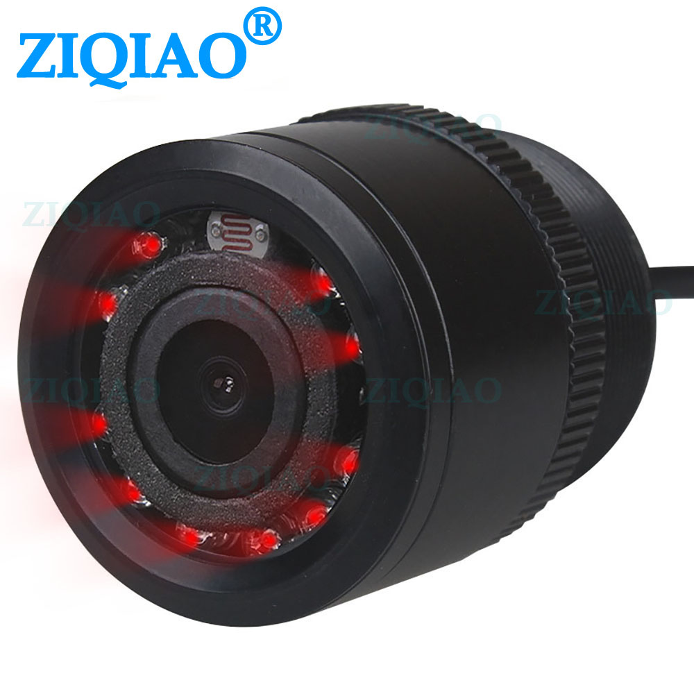 ZIQIAO IR Night Vision Rear View Camera Universal HD Waterproof Reverse Parking Infrared Camera HS020