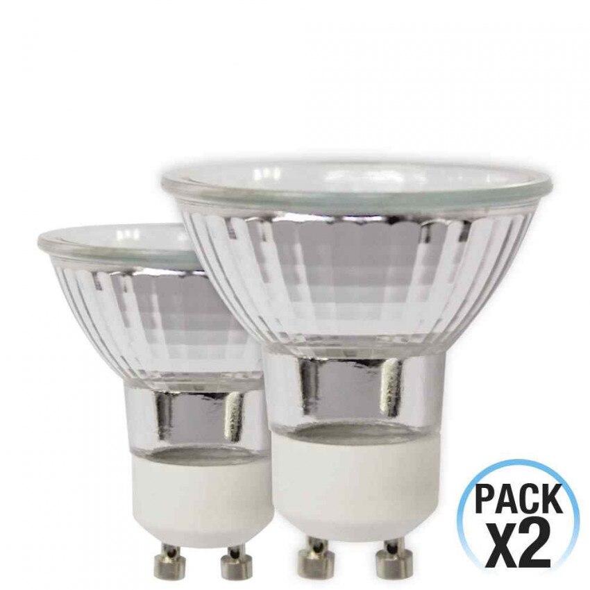 Pack 2 Halogen Bulbs Spotlight GU10 42W 2900K 1Primer Low Cost