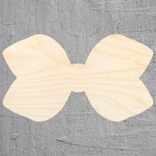 hair bow silhouette Laser Cut Out Wood Shape Craft Supply Unfinished Cut Art Projects Craft Decoration Gift Decoupage Ornamente()
