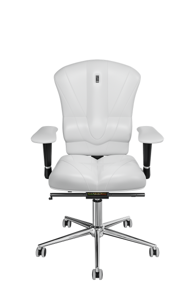 Office Chair KULIK SYSTEM VICTORY White Computer Chair Relief And Comfort For The Back 5 Zones Control Spine