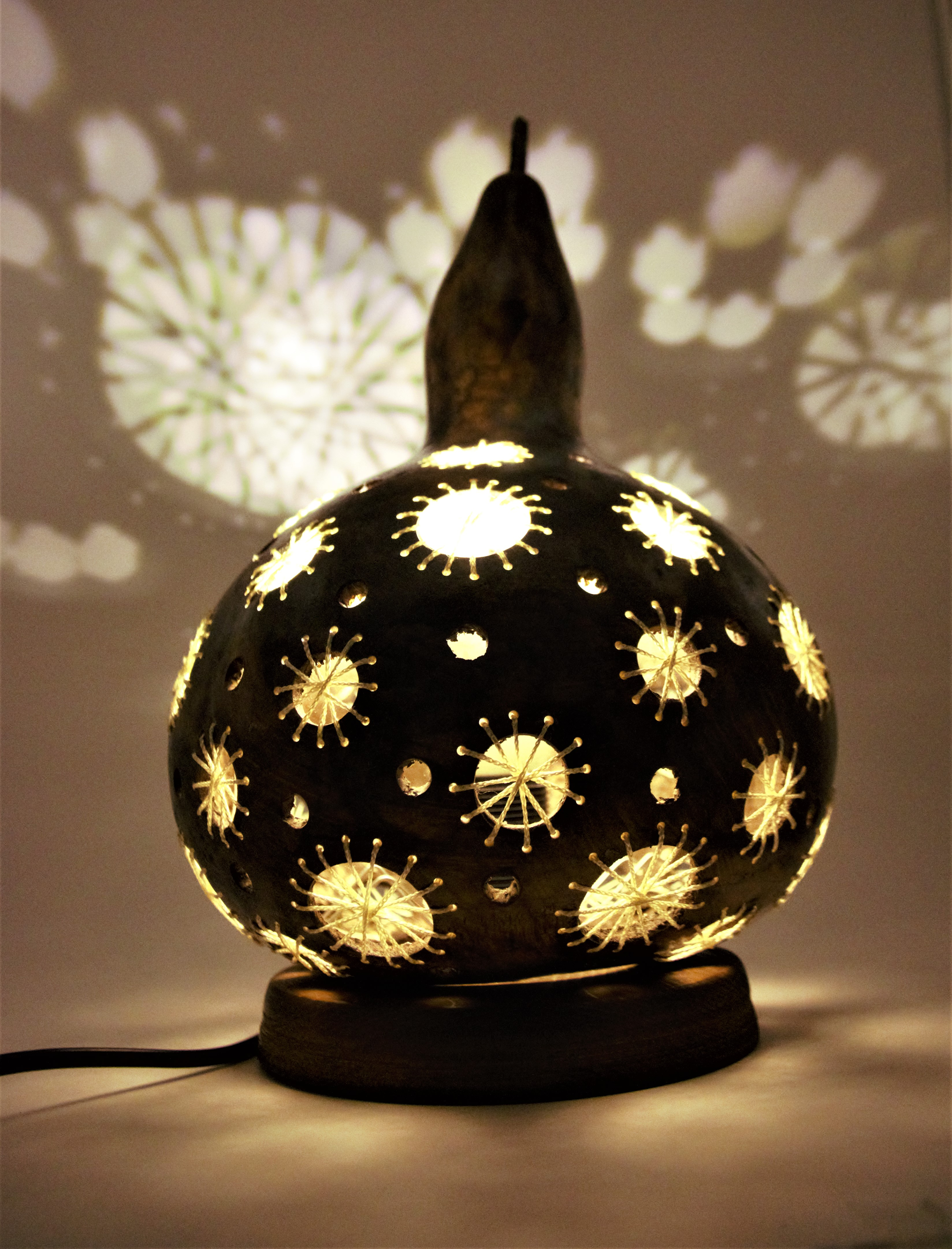 Knitting Lampshad Night Lamp High Quality Material Gourd Table Handmade Cover Desk Lights For Bedroom Study Homereading LED LAMP