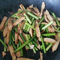 蒜苔香干的做法图解5