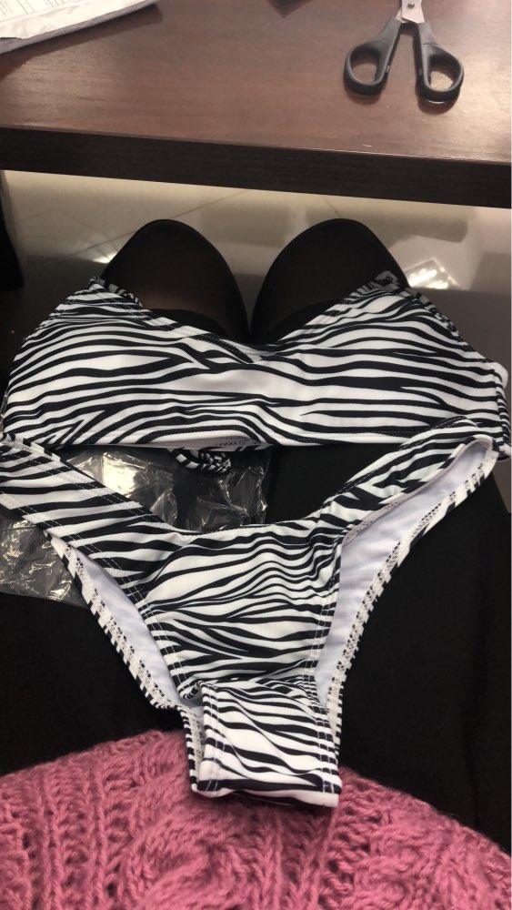 Women Sexy Leopard Bikinis Snake Print Bathing Suit Tube Top High Cut Swimsuit Brazilian Swimwear Female Summer Beachwear|Bikini Set|   - AliExpress