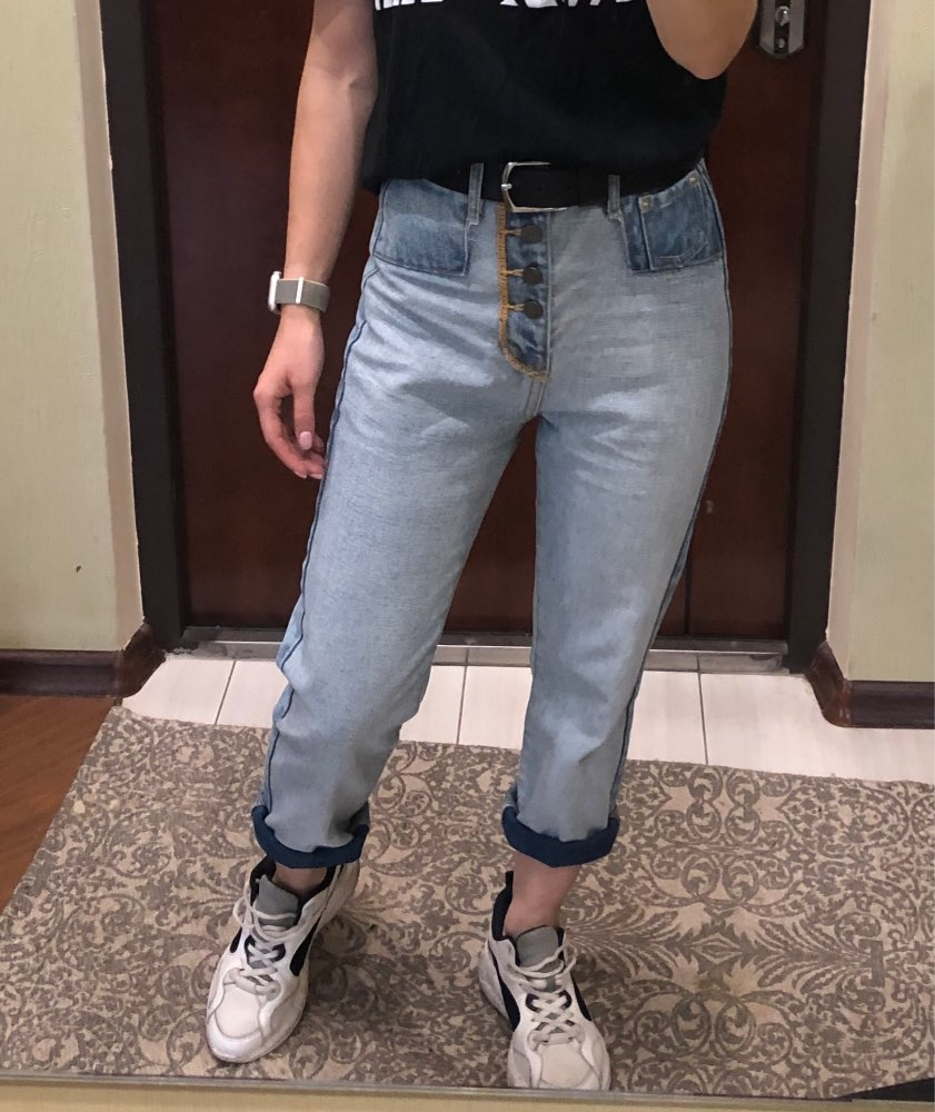 Autumn New Women High Waist Slim Vintage Washed Jeans, Female Brand Designer Casual Inside Out Denim Pants photo review