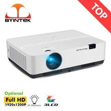 Byintek k400 3lcd luz do dia 3300ansi filme 1080p completo hd formação projetor para 300 polegada cinema educação reunião anunciar