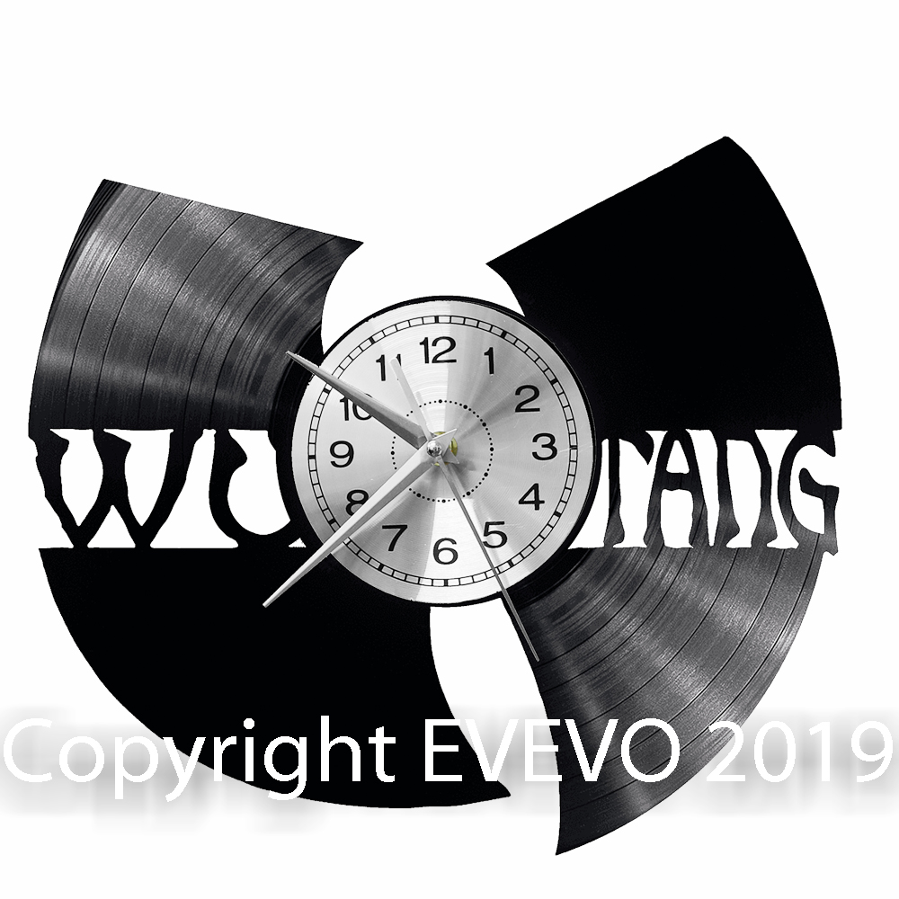Wu-Tang Wall Clock Vinyl Vinyl Record Retro Clock Handmade Vintage Gift Style Room Home Decorations Great Gift Clock
