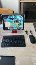 The keyboard is cool, light, thin and the buttons are pressed comfortably. There is no bac