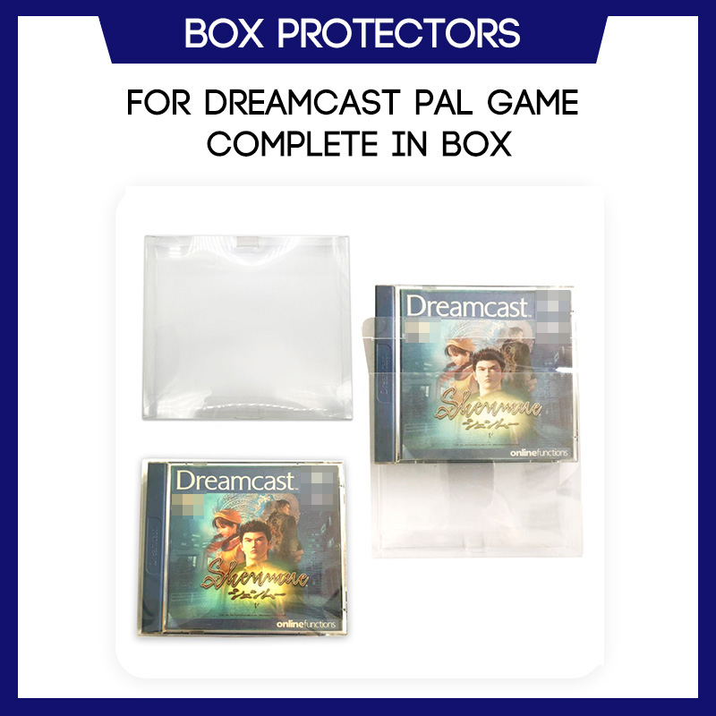 Box Protector For Dreamcast PAL Game CIB Complete In Box Custom Clear Plastic Case