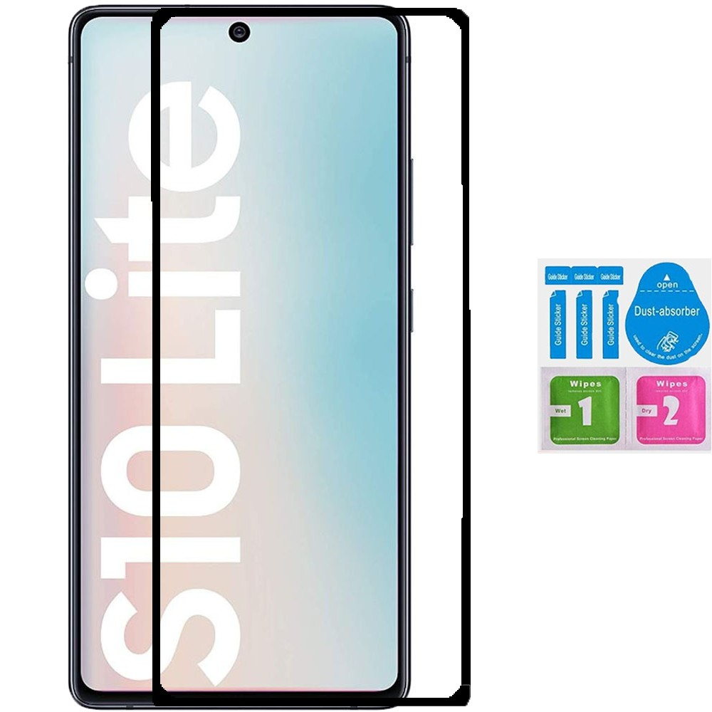 1x tempered glass for for SAMSUNG GALAXY S10 LITE full screen Protector LCD Kit
