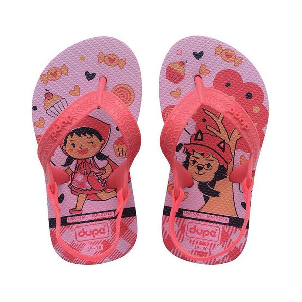 Flip Flops For Children Dupé Fairytale Pink