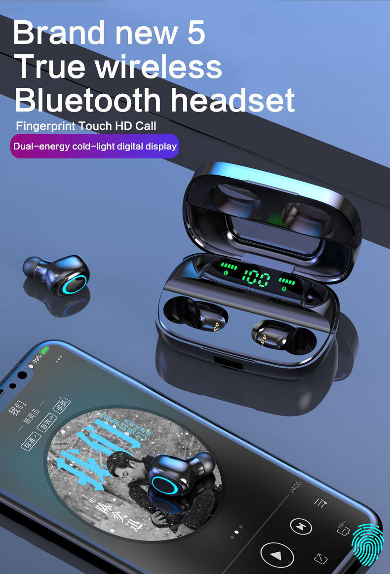 TWS Wireless Earbuds with Power Bank 89