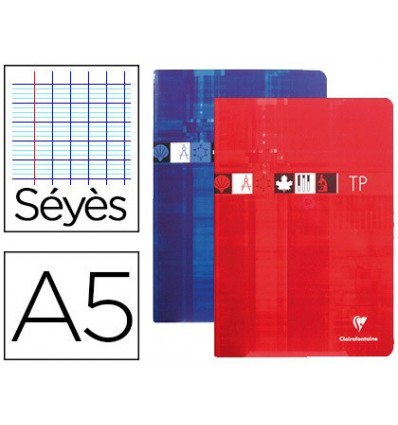 NOTEPAD CLAIREFONTAINE SCIENCE DIN A5 40 SHEETS 90 GRAPH FRANCES SEYES WITH SMOOTH BLADE DRAWING 125 GR 5 Units