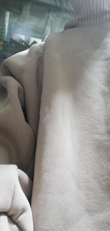 Hoodies Women Turtleneck Plus Velvet Warm Sweatshirt Student Thicker Loose Casual All Match Harajuku Long Sleeve Womens Simple photo review