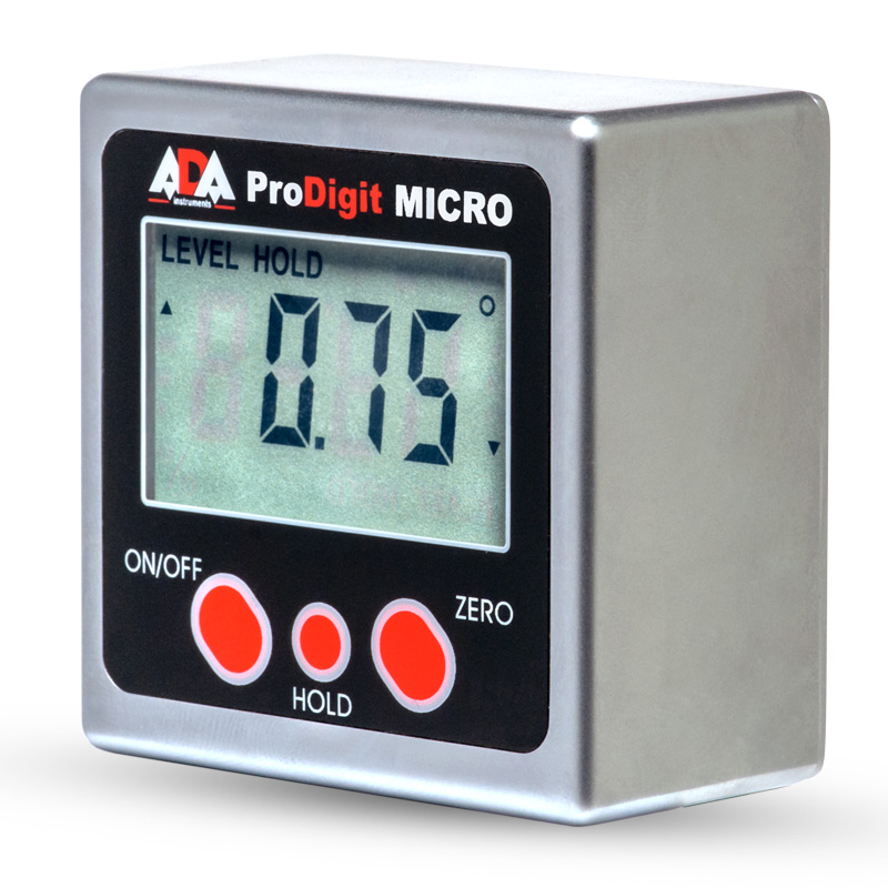 Inclinometer digital ADA Pro-Digit MICRO fast and accurate detection angle of deviation surface