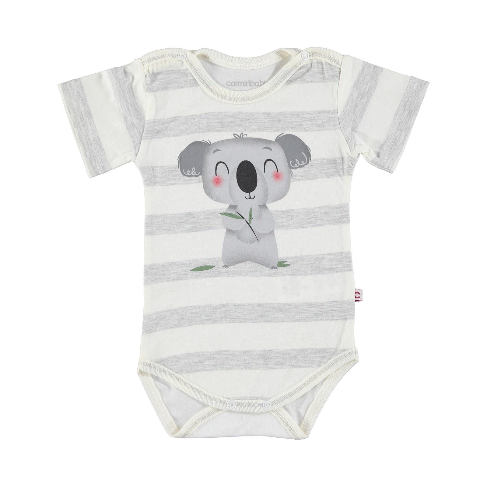 Ebebek Carmin Baby Boy Koala Printed Short Sleeve Bodysuit