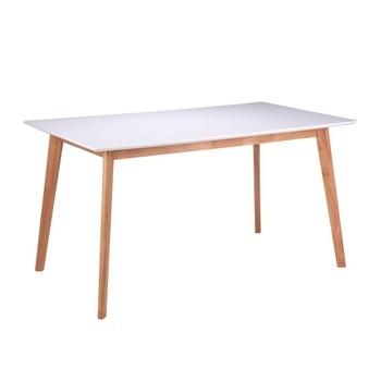Mesa ALMON 120 de comedor madera y blanca estilo nórdico, mesa comedor...