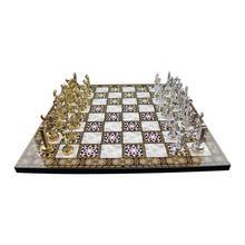 Металлический Римский Шахматный набор и перламутровая доска роскошный и стильный продукт Бесплатная доставка из Турции
