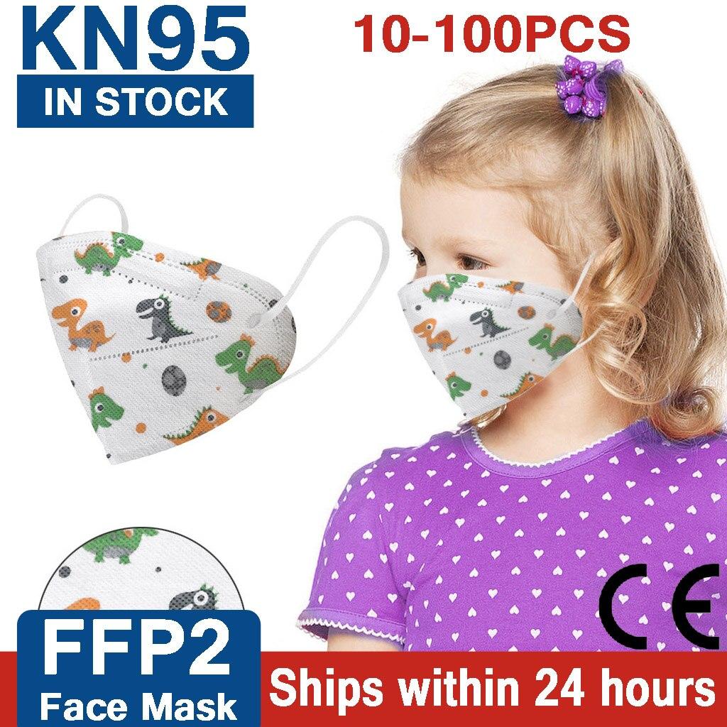 Детская маска FFP2 CE KN95, детские маски для девочек и мальчиков, маски ffp2 для детей kn95 infantil, моющаяся многоразовая ffp2mask для детей