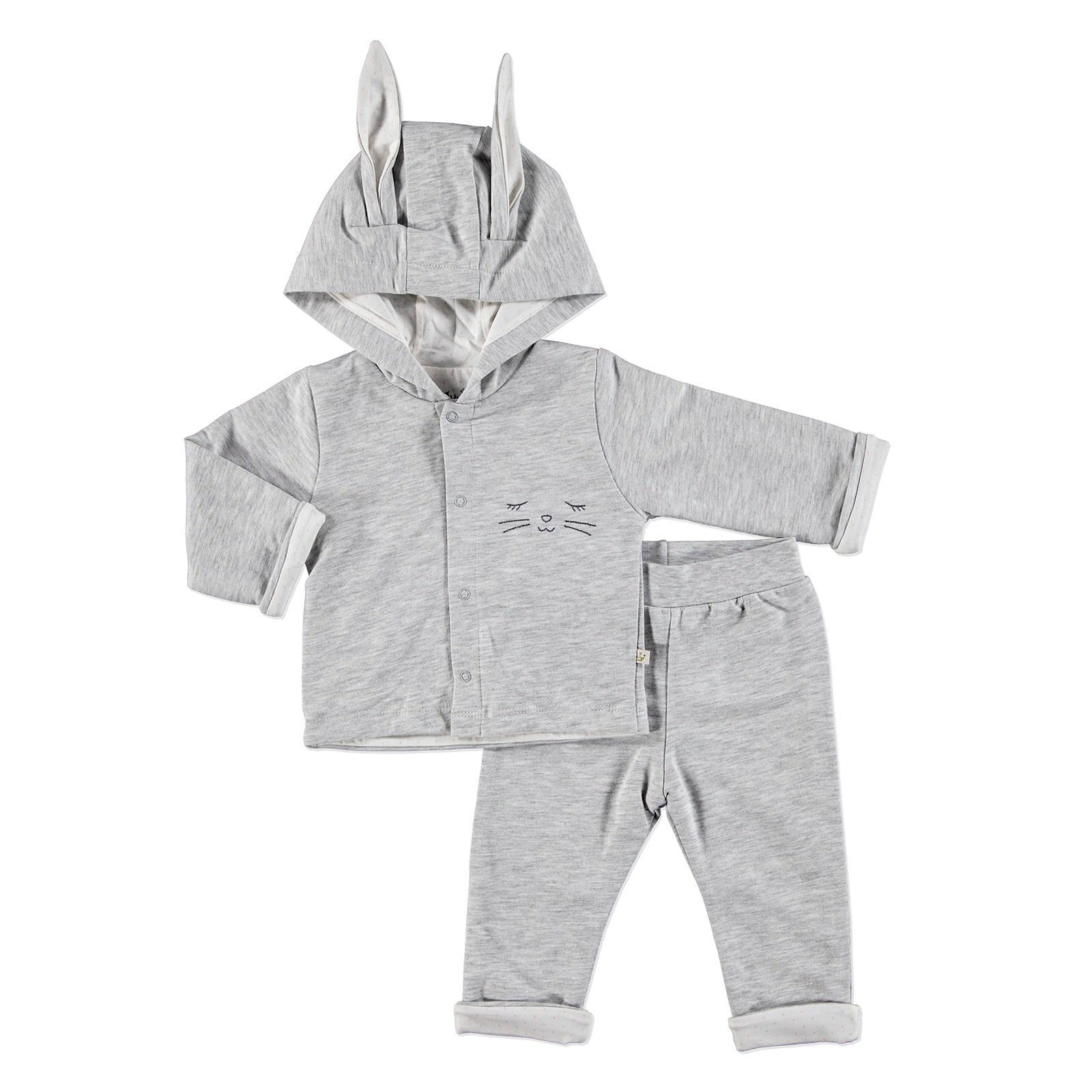 Ebebek For My Baby Bunny Hoodie Sweatshirt Trousers 2 Pcs
