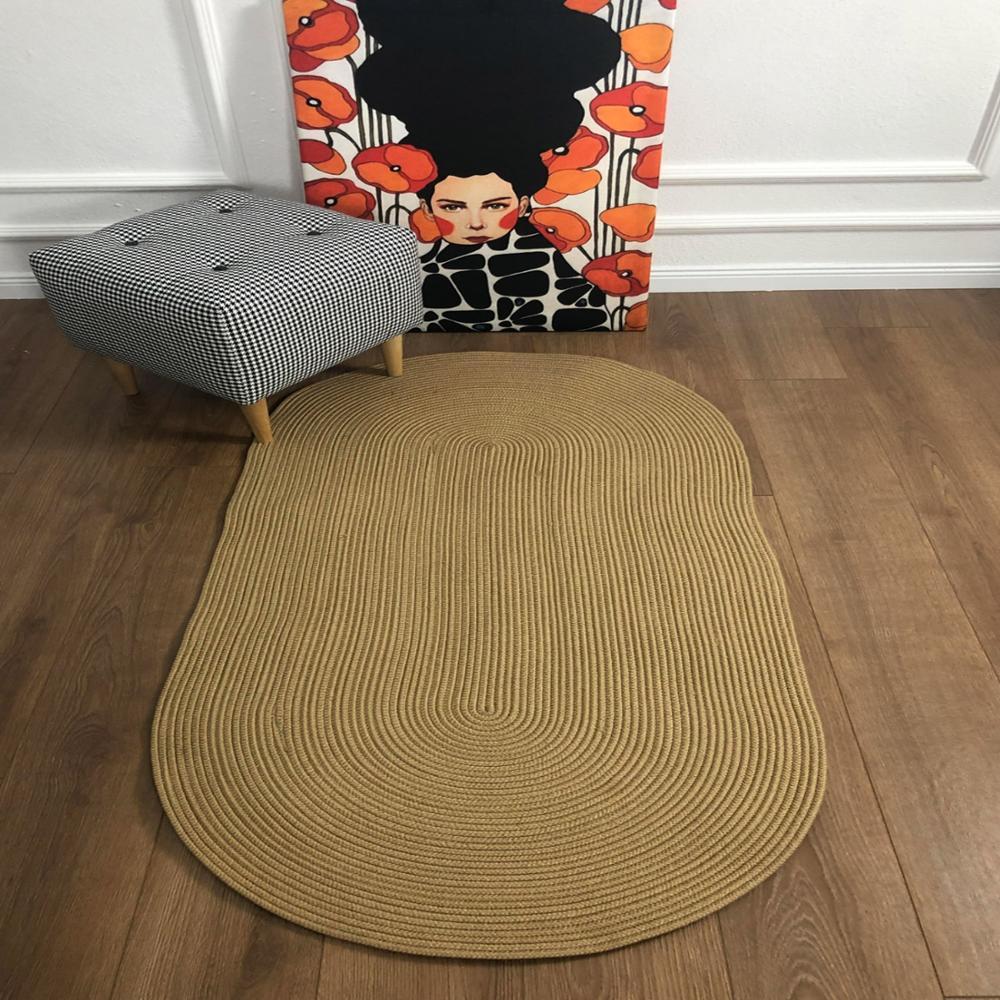 Else Natural Organic  Jute Carpet Sisal Natural Fiber Collection Hand Woven Natural Jute Area Rug For Home Living Room