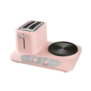 Electric three-in-one toaster Home Mini Electric Steamer, Breakfast Machine 3
