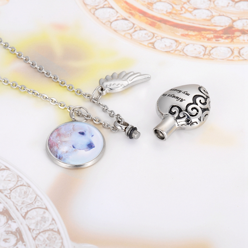 Time Gem Photo Burning Service Custom Heart Shaped Commemorative Pendant in Pendants from Jewelry Accessories