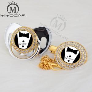 Image 5 - Miyocar chupeta personalizada, chupeta personalizada dourada pequena e prendedor de chupeta, livre de bpa, design exclusivo P SR