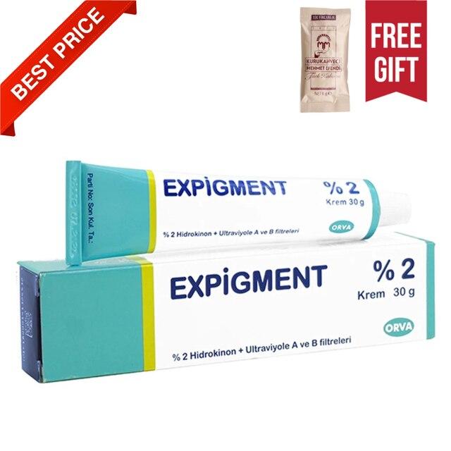 Expigment 30g 1 self Hydroquinone Cream 2% For Skin Bleaching Skin Lightening Whitening Skin Melasma Anti-blemish-made in Turkey