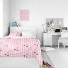 Pillowcase Duvet-Cover Quilt Girl Organic%100 Bed-Sheet Linen Edredon Single-Bed Single-Bed