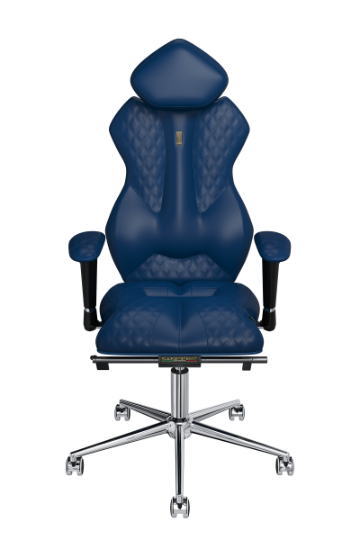 Office Chair KULIK SYSTEM ROYAL Blue Computer Chair Relief And Comfort For The Back 5 Zones Control Spine