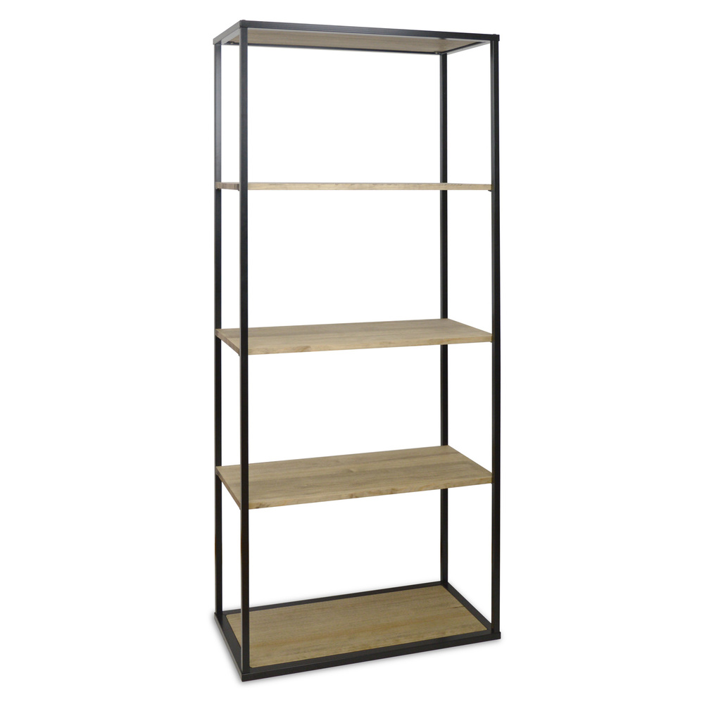 Shelf ICUB 40x80x180-80 X40 X180 Cm-5-Vintage Effect-Black