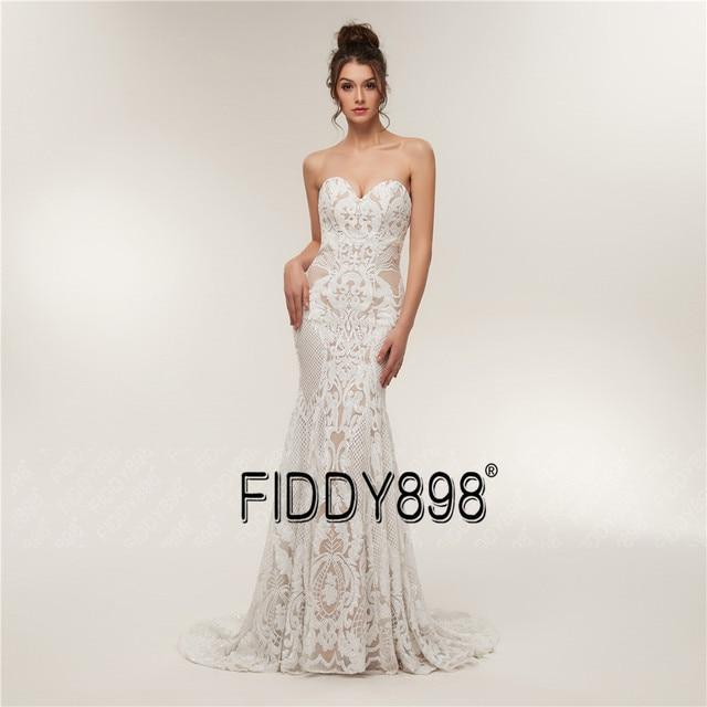 Sweeheart Mermaid Wedding Dresses Special Sequin Lace Bridal Gowns Sexy Trumpet Wedding Gown Vestido de Novia 3