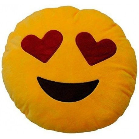 Emoticonworld Eyes Hearts 32 Cm-Cushion Emoticon.