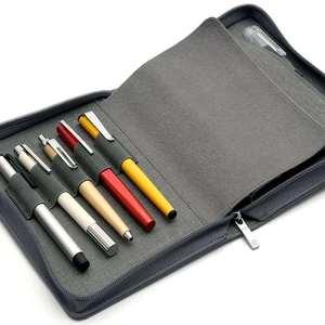 Image 4 - Kaco stift beutel stift tasche Grau Farbe Business Stil 10 Stift Taschen Für Penbbs Hongdian Moonman Delike Büro schule liefert
