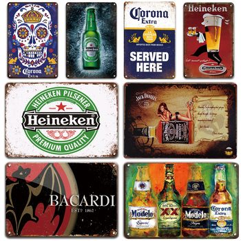 Personalized Beer Poster Metal Tin Signs Vintage Bar Pub Wall Sticker Decorative Plaque Retro Man Cave Home Decor Tin Plates dad s barbecue decorative signs beer bbq plaque metal vintage wall bar home art retro restaurant decor 30x20cm du 6034a