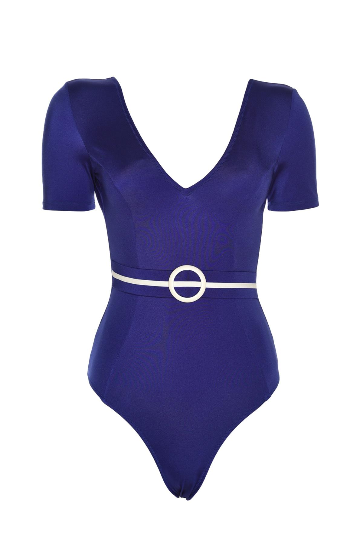 Trendyol Arched Half-Sleeve Swimwear TBESS20MA0145