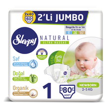 Sleepy Natural Baby Diapers 1-2-3-4-5-6-7 Number Pure, Natural And Organic