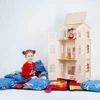 Muñecas casa juguetes casa DIY construcción rompecabezas pintura tablero educación bloque juguete niños regalos muñeca accesorio pieza DFB-3d
