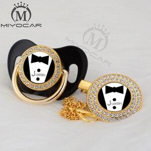 Image 1 - Miyocar chupeta personalizada, chupeta personalizada dourada pequena e prendedor de chupeta, livre de bpa, design exclusivo P SR