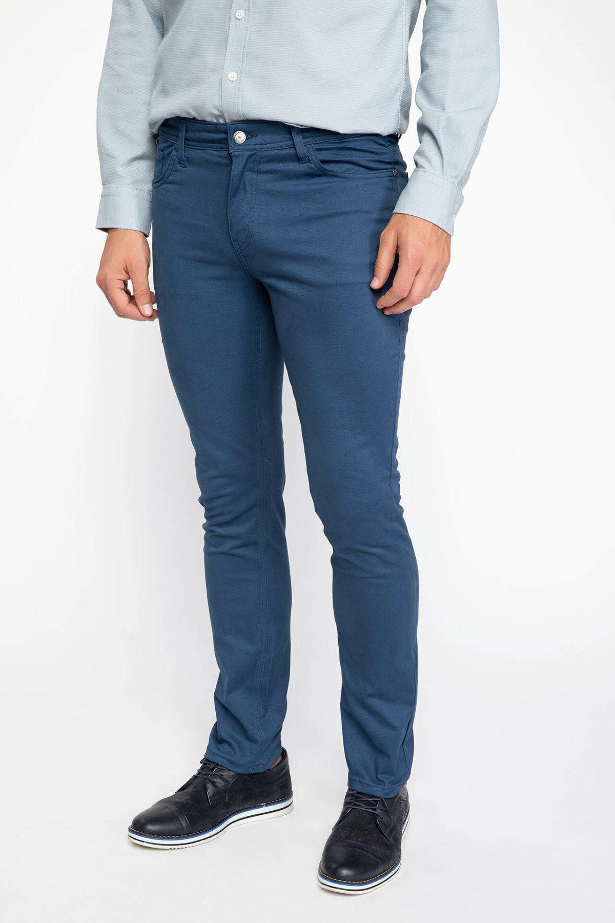 DeFacto Fashion Men's Suit Trousers Leisure Classic Business Long Pants Male Casual Solid Casual Slim Pants New - J1047AZ18AU