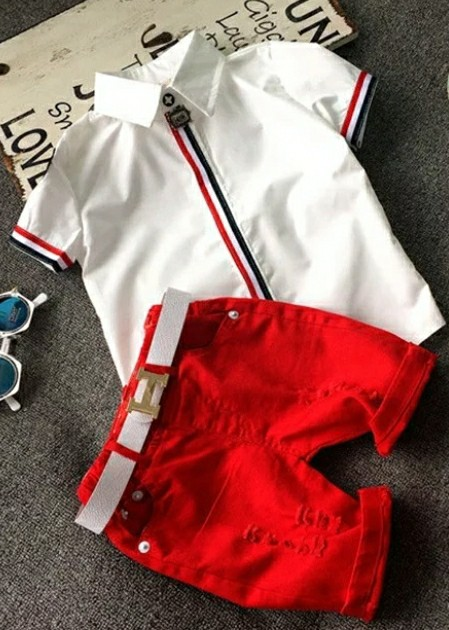 Hot sale! 2020 Summer style Children clothing sets Baby boys girls t shirts shorts pants sports suit kids clothes photo review