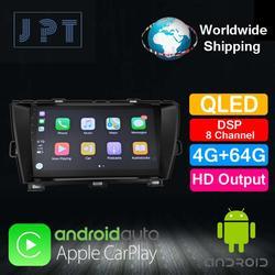 Odtwarzacz multimedialny-JPT-dla TOYOTA 2010 Prius prawa kierownica QLED PX6 DSP8 RDS nawigacja GPS 4G + 64G AUX Carplay