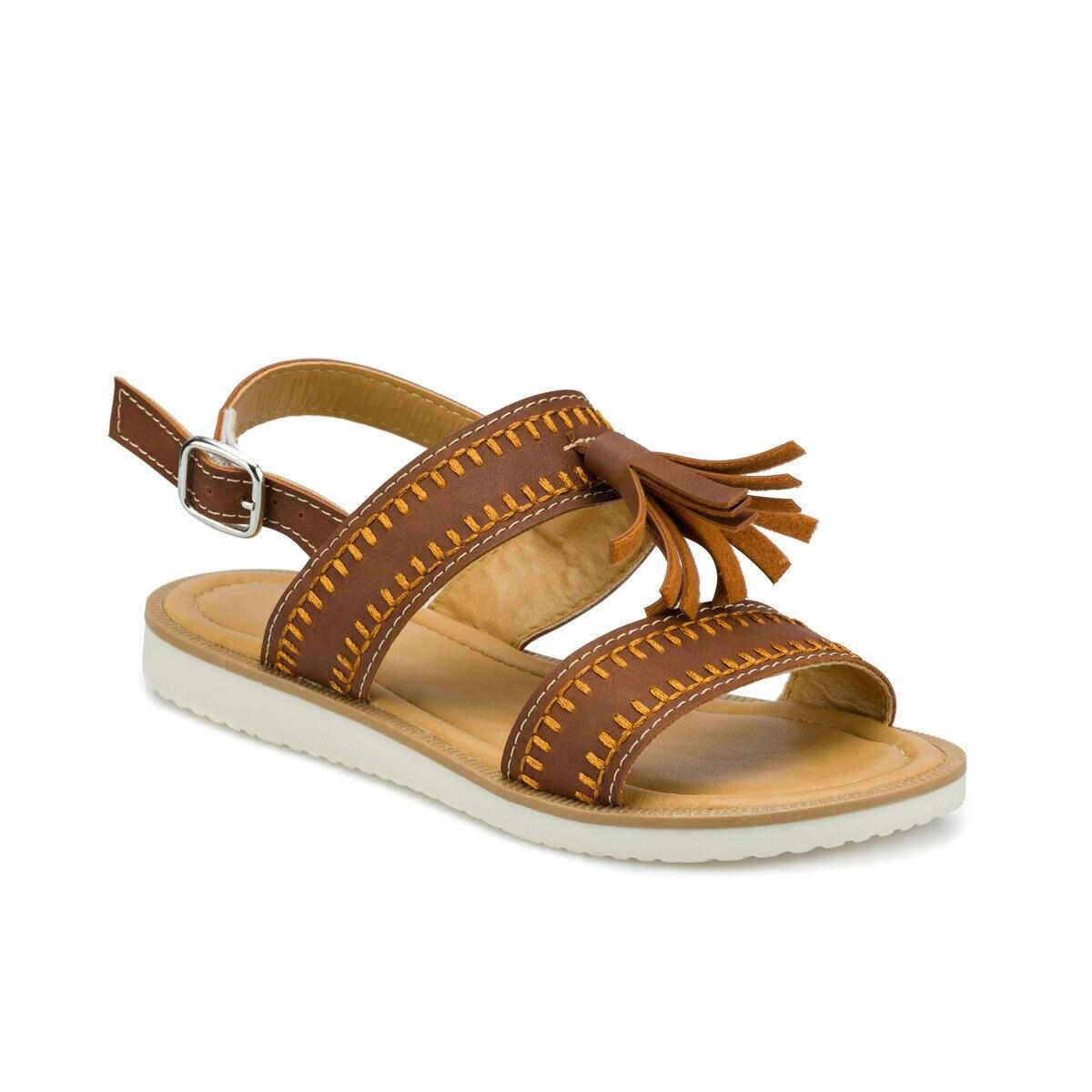 FLO 512491.F Brown Female Child Sandals Polaris
